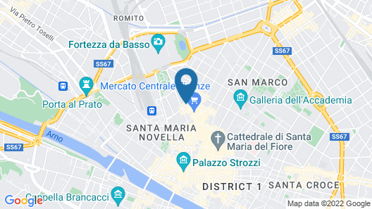 Hotel Corona d'Italia Map