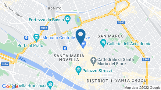 Glance Hotel In Florence Map