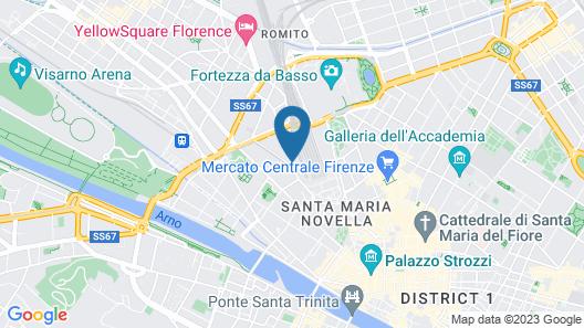 Florence Hostels Anamaria Map