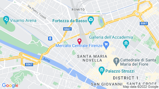 Florence Hostels Map