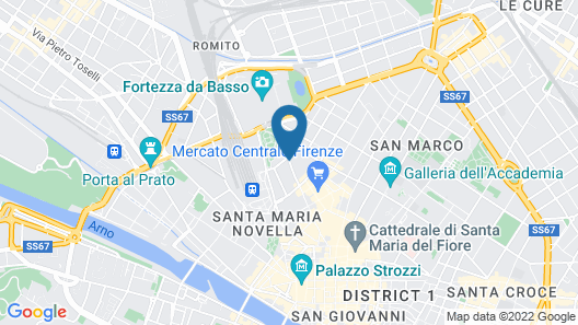 Hostel Archi Rossi Map
