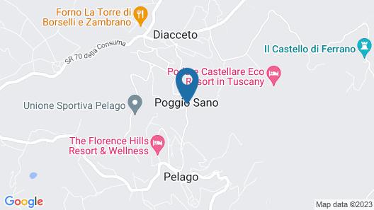 Podere Castellare Map