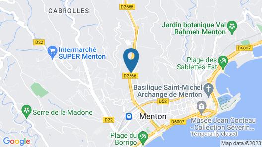 Hôtel Menton Riviera Map
