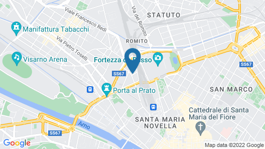 New Hostel Florence Map