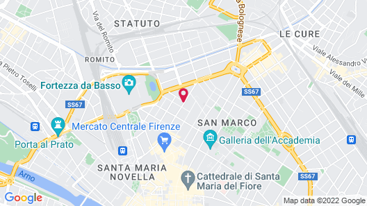 Hotel Rapallo Map