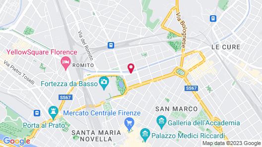 Hotel La Fortezza Map