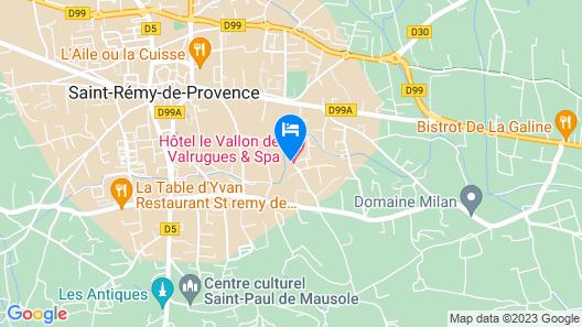 Le Vallon de Valrugues & SPA Map