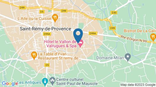 Le Mas de Valrugues Map