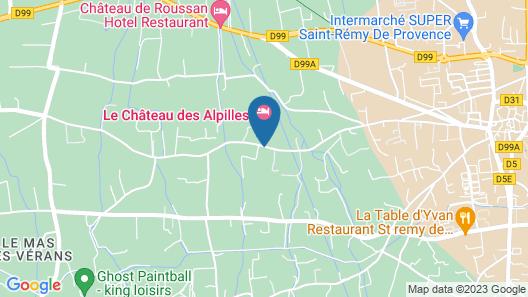 Le Château des Alpilles Map