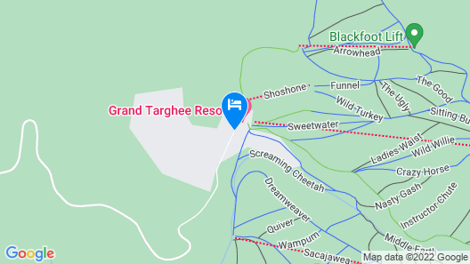 Sioux Lodge Suites by Grand Targhee Resort Map