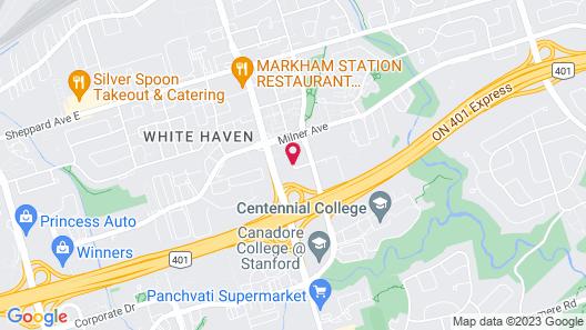 Travelodge by Wyndham Toronto East Map
