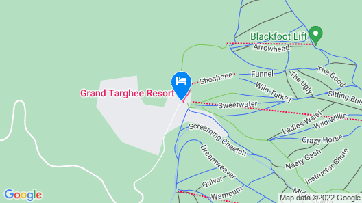 Teewinot Lodge by Grand Targhee Resort Map