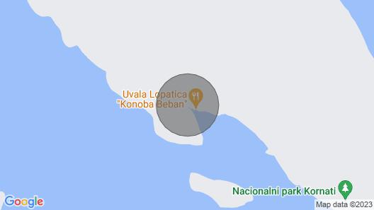 House Mandica (57701-K1) - Uvala Lopatica - island Kornat Map
