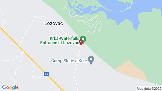 Vrata Krke Hotel Map