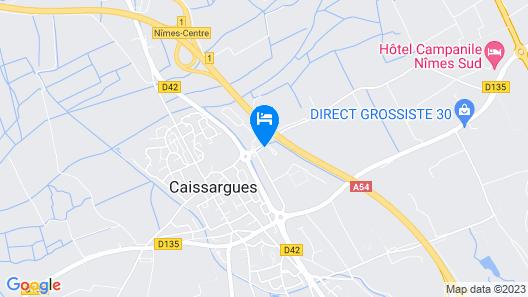 Fasthôtel Nîmes Caissargues Map