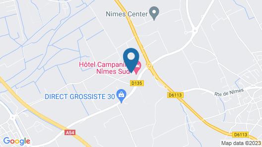 Hotel Campanile Nîmes Sud - Caissargues Map