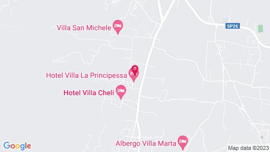 Villa La Principessa Map