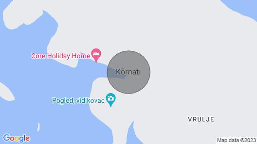 Beautiful Villa Kornati Map