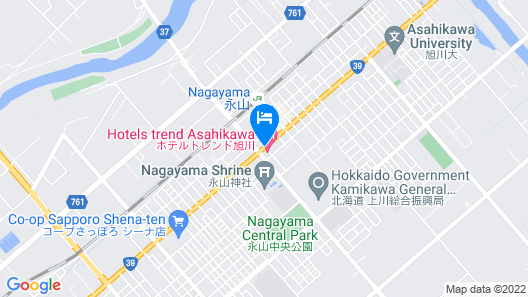 Trend Hotel Asahikawa Map