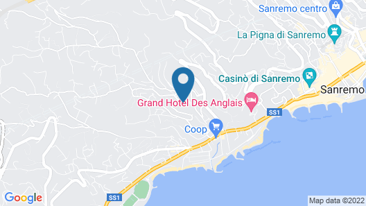 Nyala Suite Hotel Sanremo Map