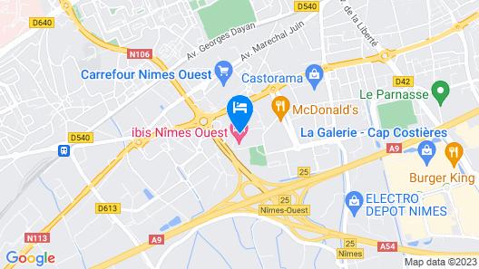 The Originals City, Hôtel Costières, Nîmes (Inter-Hotel) Map