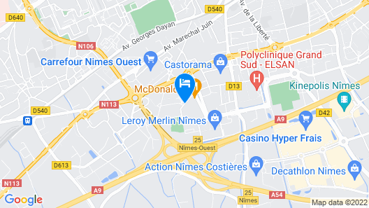 Hôtel Nîmotel Map