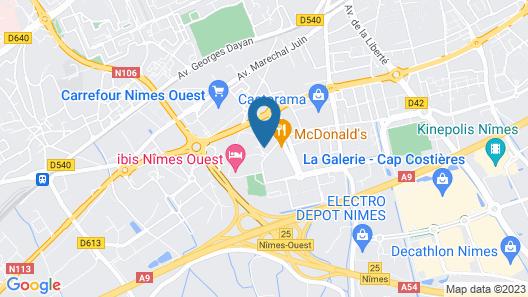 B&B Hotel Nimes Ville Active Map