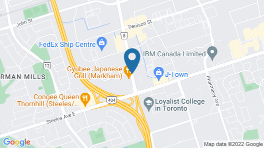Courtyard by Marriott Toronto Northeast/Markham Map