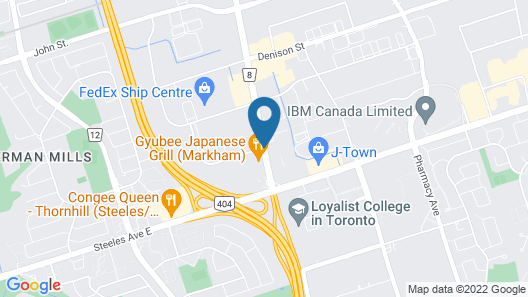 TownePlace Suites by Marriott Toronto Northeast/Markham Map