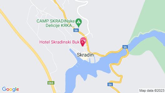 Hotel Skradinski Buk Map