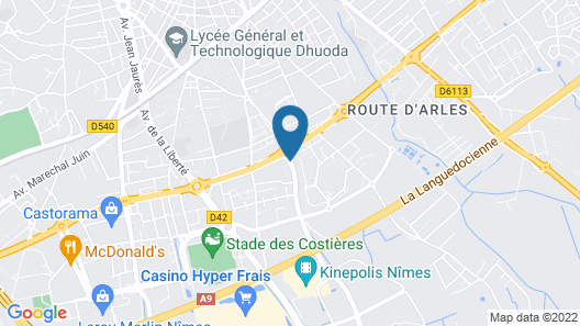 Appart'City Nimes Map