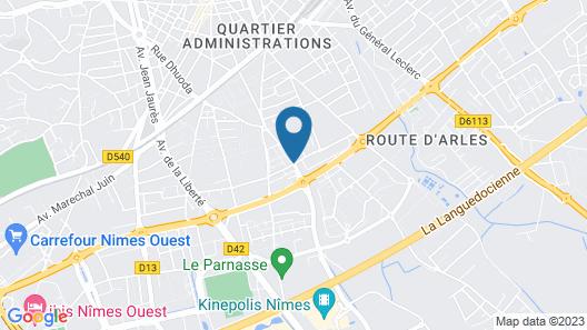 Hotel Campanile Nimes Centre - Mas Carbonnel Map