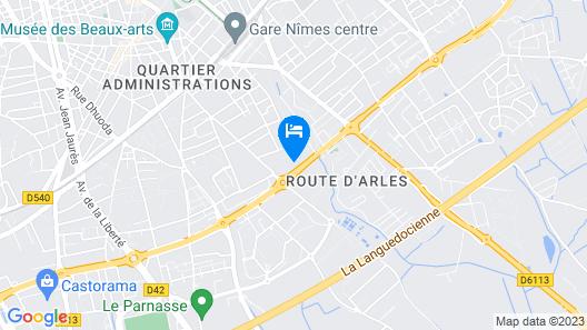 Best Western l'Orangerie Map