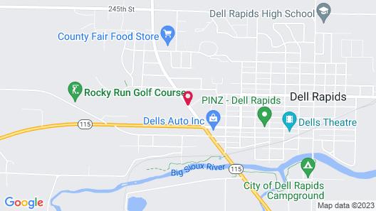 Bilmar Inn & Suites Dell Rapids Map