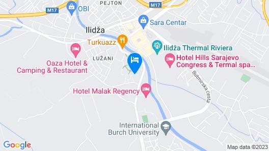 Hotel Austria & Bosna Map