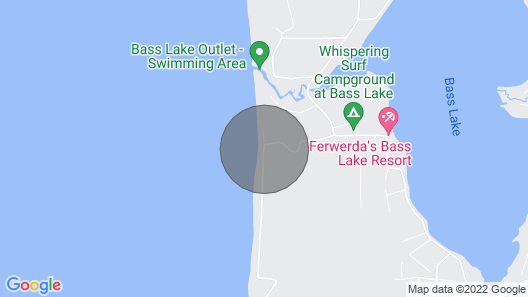 Forested Pentwater Beachhouse-100 Ft to Shore Map
