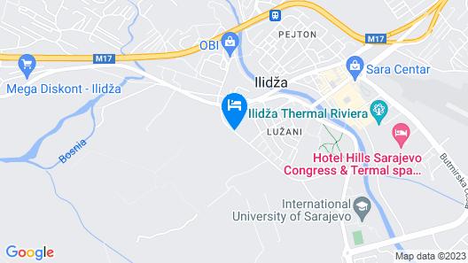 Villas and Apartments Oaza Map