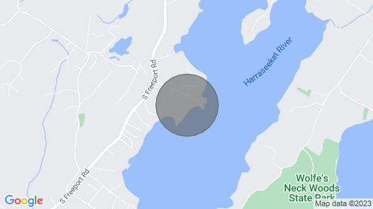 Full Moon on the Harraseeket, Freeport, Maine Map