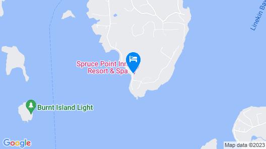 Spruce Point Inn Resort & Spa Map