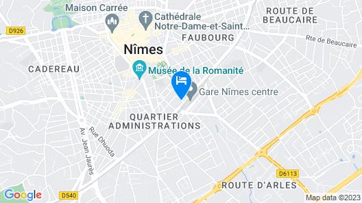Appartement romanité Map