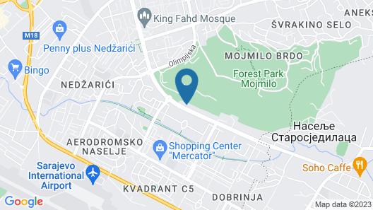 Imzit Hotel-dobrinja Map