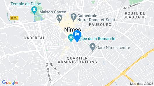 Appart'City Confort Nîmes Arènes Map