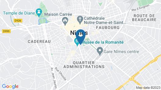 Odalys City Nîmes Le Cheval Blanc Map