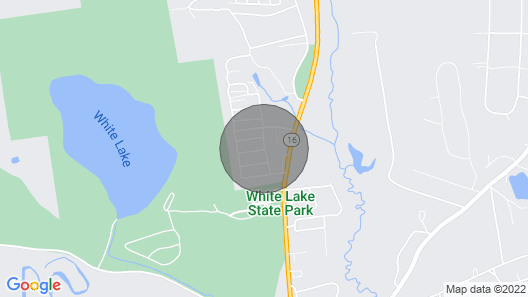 New Pine Cabin in the White Mountains Walk to White Lake new Map