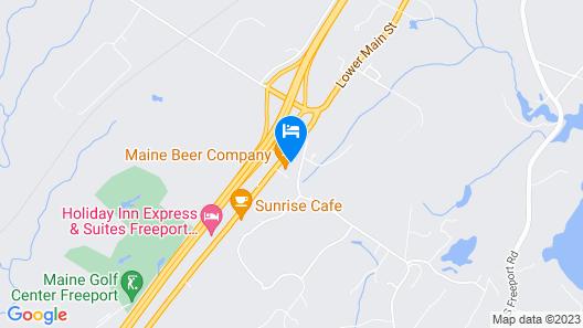 Econo Lodge Freeport - Brunswick Area Map