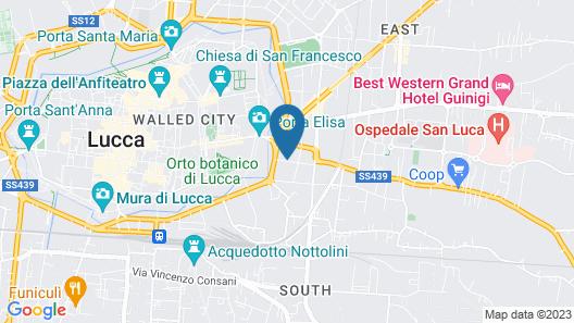 Lucca In Villa Elisa & Gentucca Map