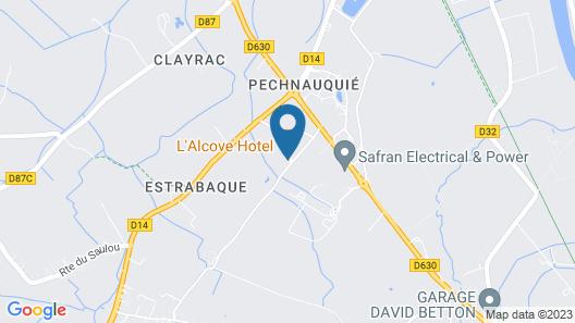 L'Alcove Hotel Restaurant Map