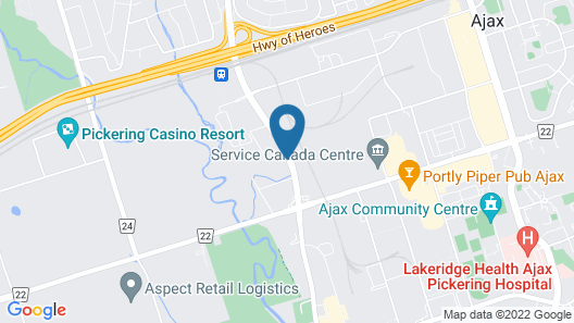 Super 8 by Wyndham Ajax/Toronto On Map