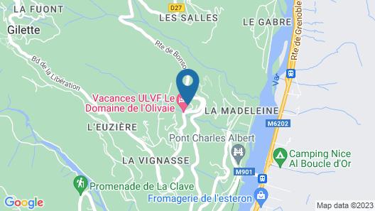 Le Domaine De L'Olivaie - Vacances ULVF Map