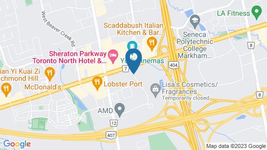 Hilton Garden Inn Toronto/Markham Map
